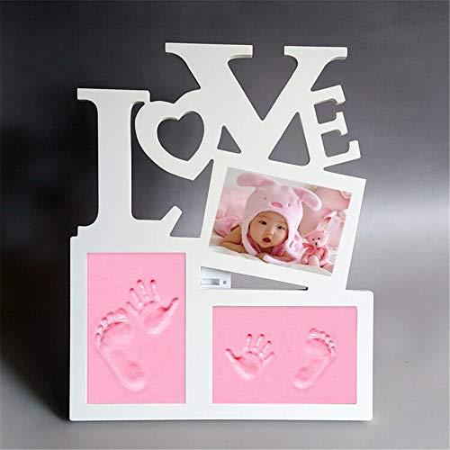Kit de Marco de Huellas de Mano y Pie de Bebé - Set de Marco de fotos y Huellas de bebé en Arcilla Recuerdo Para una Ducha de Bebé o Regalo de Bautizo Memorables Decoraciones para la habitación #6