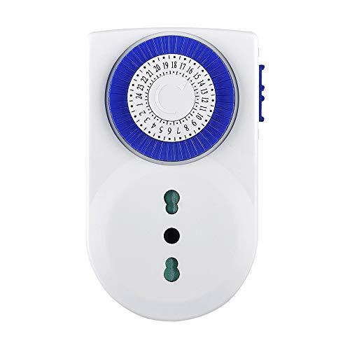 Amazon Basics - Spina con timer meccanico a risparmio energetico