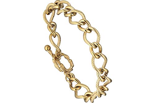 IKITA - Bracciale a maglie intrecciate, in metallo dorato