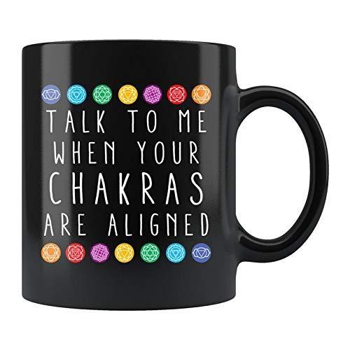 N\A Taza de Yoga Taza de Chakra Taza de meditación Taza de Reiki Tazas para Mujeres Regalo para Yogi Taza de Chakra Regalos espirituales Regalo Espiritual Regalo de Yoga d90