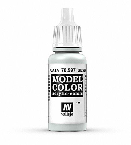 Vallejo Silver Model Color Paint, 17ml