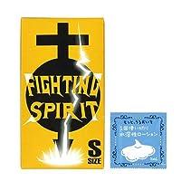 FIGHTING SPIRIT (ファイティングスピリット) コンドーム Sサイズ 12個入 + 1回使い切り水溶性潤滑ローション
