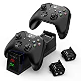 Battery Pack for Xbox One Controller, YCCTEAM Controller Charger for Xbox One, Xbox One S, Xbox One X, Xbox One Ellite Controller with 2pack 1200mAh Rechargeable Battery and Charging Station