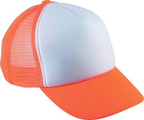 K-up Casquette Trucker Enfant - 5 Panneaux - White/Fluorescent Orange, One Size, Enfant