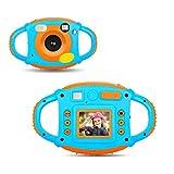 YinFun YF-ec3 - Cámara Fotos para Niños, 1.77 HD Color, Pantalla 5 MP, Azul y naranja