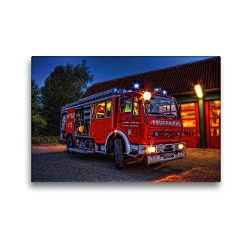 CALVENDO Premium Textil-Leinwand 45 x 30 cm Quer-Format Löschgruppenfahrzeug 24 FF WF-Cremlingen, Leinwanddruck von Markus Will