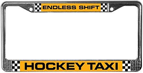 Fhdang Decor Eishockey Taxi Kennzeichenrahmen Chrom Kennzeichenhalter Auto Tag Zubehör 15,2 x 30,5 cm
