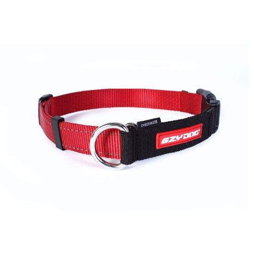 EzyDog Checkmate Hundehalsband - Halsband Hund - Zugstopp Halsband für Hunde - Zughalsband für hunde - Trainings und Dressurhalsband. Schlupfhalsband für Große, Mittlere und Kleine Hund (S, Rot)