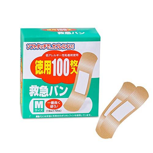 libelyef Wasserdichtes Pflaster -100 Stück wasserdichte Klebebandagen Wundpflaster für Erste Hilfe - Mit Quilt-Aid-Technologie zur Polsterung schmerzhafter Wunden -19x72mm