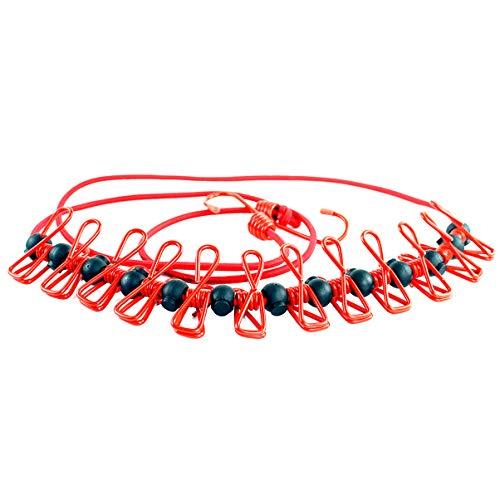 LIOOBO 1 Pc Portable Réglable Durable Antidérapant Vêtements Pratiques Boucle de Corde Corde à Linge Clips Corde à Linge pour Voyage