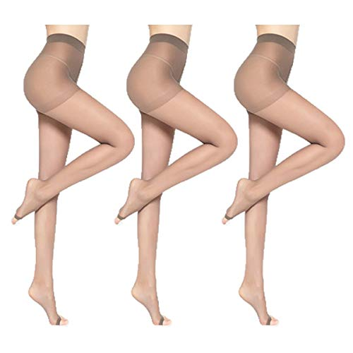 3 Pack toeless pantyhose plus size,15d Sheer Opentoe Sandalfoot Pantyhose Stocking Tight for Women Heels/Shoes/Boot/Pumps/Sandals