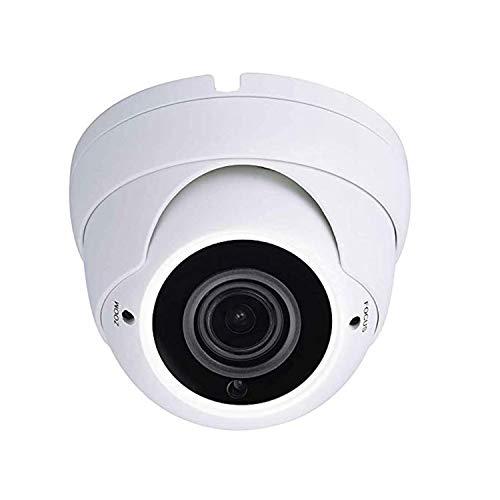 Sinis Security Hybrid Cámara de vigilancia de seguridad de 5 MP 4 MP 1080P HD-TVI/CVI/AHD/960H CCTV, resistente al agua, para exterior/interior, 2,8-12 mm, sistema de vídeo cúpula de metal
