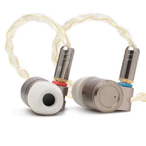 Linsoul TIN HIFI T3 Premium Single Knowles BA und Single PU+PEK Dynamic Treiber In-Ear-Kopfhörer – Premium CNC-gefräste Metallkonstruktion und abnehmbare, vergoldete OFC SPC MMCX Kabel