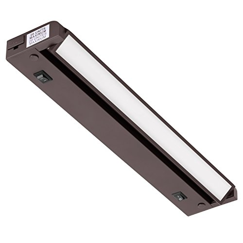 GetInLight Swivel 2-Color Level LED Under Cabinet Lighting Fixture, Dimmable, ETL Listed, Ultra Slim Design, Warm White 2700K, Bright White 4000K, Bronze Finished, 12-inch, IN-0109-2-BZ