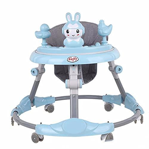 HYWY Baby Andador, Andador Bebé, Andador Multifuncional, Diseño Plegable Multifuncional, Ruedas Universales Silenciosas. Los Bebés Mayores De 6 Meses Aprenden a Caminar Blue
