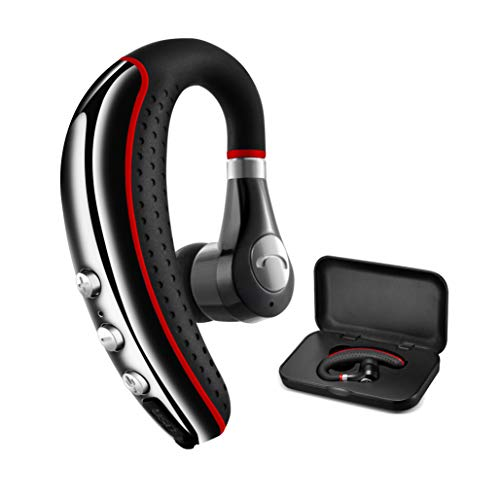 Bluetooth Headset 5.0,CANDEO High-Fidelity Audio Wireless Bluetooth Earpiece Hands Free Business Earphones with Noise Reduction mic,Compatible iPhone,Android Cell Phones Other Bluetooth-enabled Device