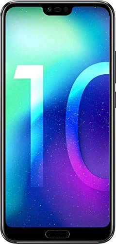 "Honor 10 Smartphone, 4G LTE, 64GB di memoria, 4GB RAM, Processore Kirin 970, Display 5.8"" FHD+, Doppia Fotocamera 24+16MP, Nero [Italia]"