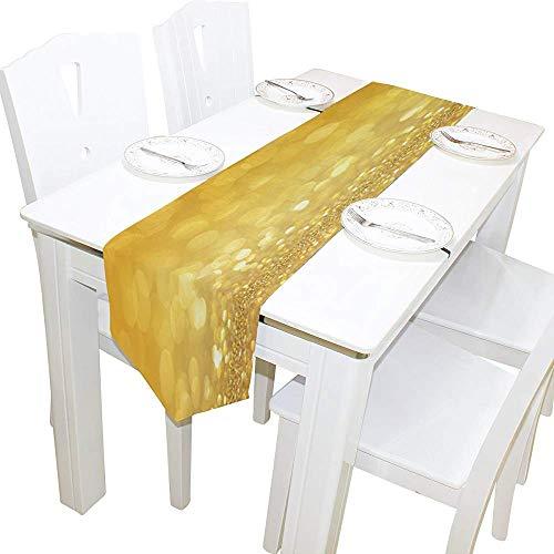 Tafelloper Home Decor, stijlvol goud glitter bubble tafelkleed runner koffie mat