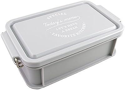 日本製 TODAYS MENU ランチボックス 弁当箱 600ml グレー