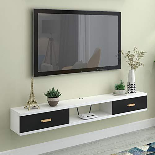GDF-SZwevende wandrek, drijvend dvd-speler-rek, hangende televisiekast, tv-wandhouder, moderne meubels, set-top box, meerkleurig Optioneel televisierek