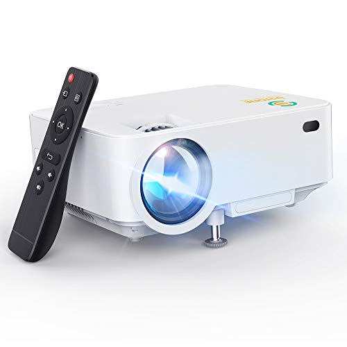 Mini Projector, 3Stone Upgraded Portable LCD Video Projector with 1080P Supported and Built-in...
