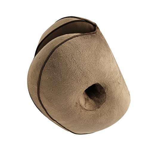 FAMKIT Doble Comodidad Cojín de Felpa de Tela de Doble Forma de O Hueco de Diseño de La Postura Del Trasero Que Corrige Los Cojines para Aliviar La Presión
