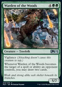 Magic: the Gathering MTG - Warden of The Woods - Core 2021 M21 213 English