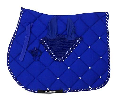 Gallop Shop Tapis de selle pour cheval/tapis de selle sans oreilles Bleu roi