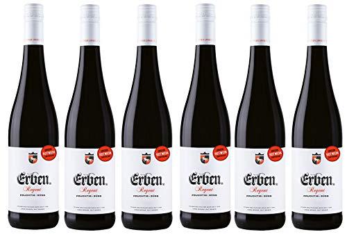 Erben Regent Fruchtig-Süß – Fruchtig-milder Rotwein aus Deutschland – 6 x 0,75 l