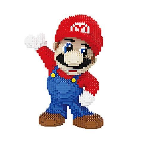 Juego de construcción de bloques de construcción para niños, minirompecabezas 3D Big Super Mario, bloques de construcción