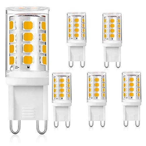 G9 LED Lampe Warmweiß 3000K, 3W ersatz für Halogenlampe G9 28W 33W, AC 230V G9 Mini Glühlampe, Kein Flackern 280LM, Nicht Dimmbar 5er Pack