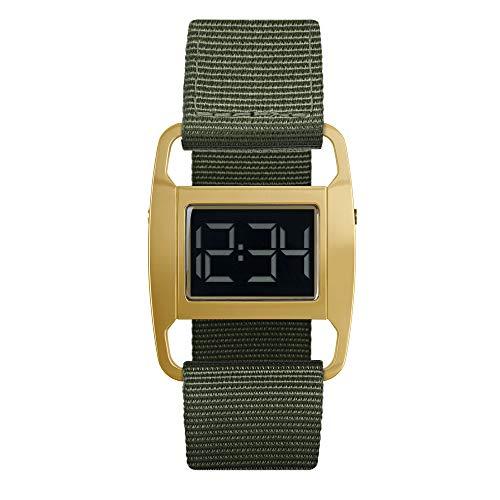 VOID Watches Uhr Digital mit nylon Armband PXR5-PG/OL Poliert Gold & Olivefarbenes Nylon Armband