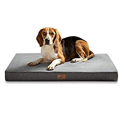 INTIMATE HEALTH CARE: Orthopedic memory foam dog bed helps relieve pet's existing joint pain and helps prevent other joint problems. WATERPROOF DESIGN: Water-resistant lining protects the memory from pollution in all directions and prolongs the life ...