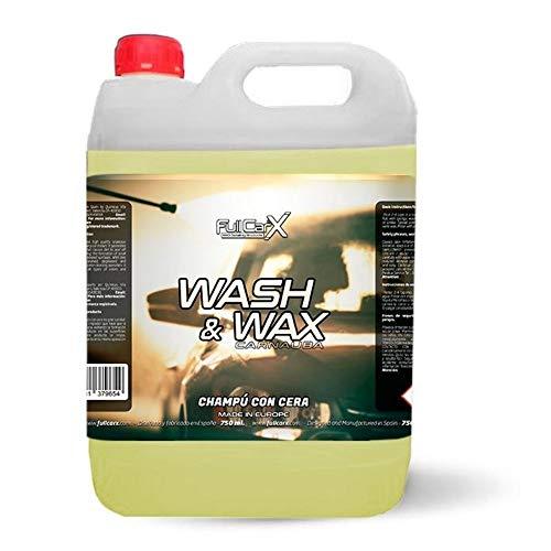 AutoFullCar - Champú con Cera Wash&Wax FullCarX Máximo Brillo Wet Look y Suavidad | 5 litros