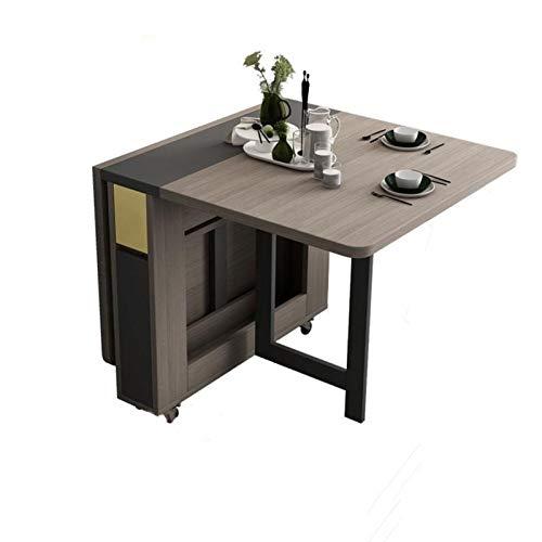 JIADUOBAO Juego de mesa de comedor plegable de 1,5 m y 2 sillas de madera maciza, muebles de cocina de madera maciza, pequeño apartamento, mesa de mesa de comedor (color: mesa, tamaño: mesa)