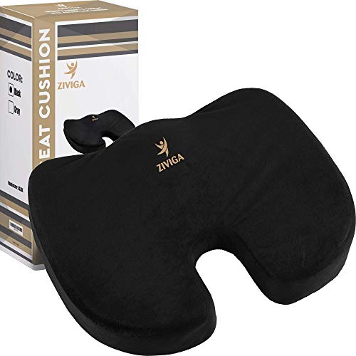 Seat Cushion for Office Chair - Car, Truck, Wheelchair, Kitchen - Soothing Coccyx Support Relieves Back Pain, Tailbone, Sciatica, Hemorrhoid