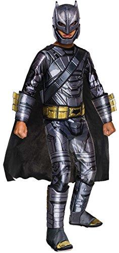 Dawn of Justice - Disfraz de Batman con armadura Premium para niños, infantil 5-7 años (Rubie's 620561-M)