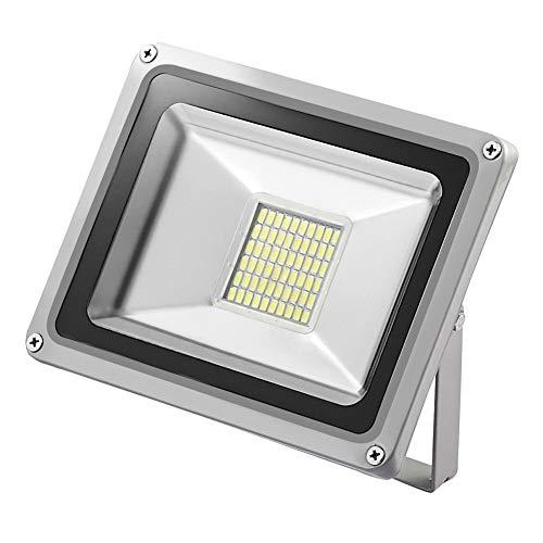 12V Foco LED, 30W 2400LM Blanco Frío 6000K Reflector Foco Proyector LED para Exteriores Floodlight, Súper Brillante luz de Seguridad para Jardín, Garaje, Campo Deportivo