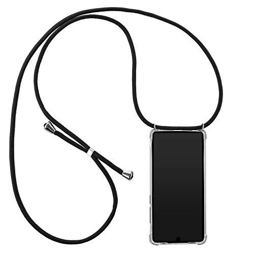 Handykette geeignet für Huawei Mate 20   Smartphone Necklace Hülle mit Band   Schnur Kordel mit Case zum Umhängen   schwarz