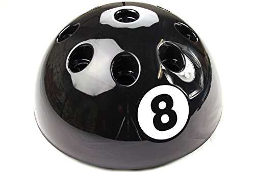 Funky Chalk Original Giant BLACK 8 Ball Cue Stand & Rack - Holds Up To 9 Cues