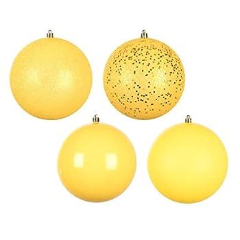 yellow christmas ornament