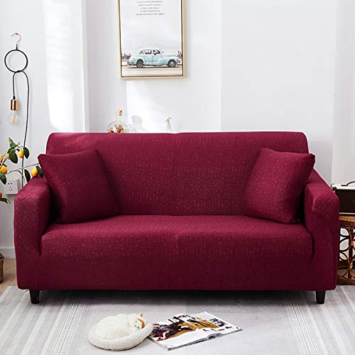 NOBCE Juego de Fundas elásticas para sofá, Fundas universales de algodón para sofá para Sala de Estar, Mascotas, sillón, sofá de Esquina, Funda para sofá de Esquina 90-140CM