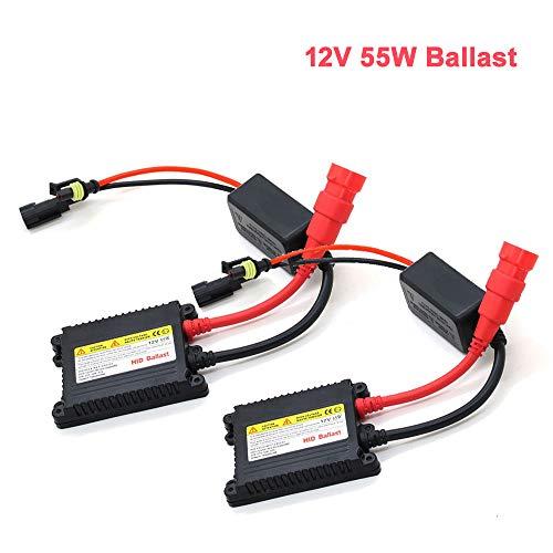 Digitale auto Xenon HID-conversiekit vervangen met slanke ballastblokken voor koplampen Ultra alle gloeilampen Fit DC 12V 55W