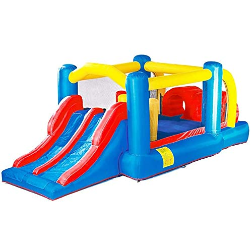 Lowest Price! ZSJ Boy Girl Bouncy Castle Summer Water Park Outdoor Amusement Park Household Slide Ch...