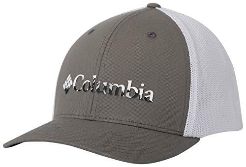 Columbia Mesh Ballca Gorra de béisbol, Titanium, Color Weld, Large/X-Large Unisex Adulto