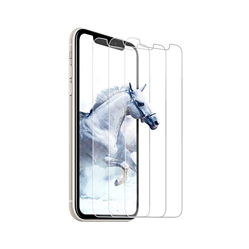 [Pack of 3] Tempered Glass Screen Protector Compatible with iPhone 11/iPhone XR [2.5D Round Edge] Scratch-Resistant, Anti-Fingerprint, Bubble-Free, Tempered Glass Screen Protector - Transparent
