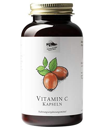 KRÄUTERHANDEL SANKT ANTON® - Vitamin C Kapseln - Hochdosiert - Aus Hagebutten - Laborgeprüft - Deutsche Premium Qualität (300 Kapseln)