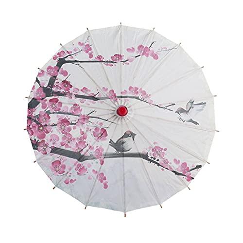 tggh Paraguas para novia, paraguas de estilo chino de danza antigua, paraguas decorativo, paraguas de papel de aceite (color: C)
