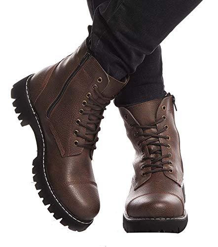 Leif Nelson Zapatillas para Hombre Calza Botas Zapatos LN-156 Marrón 44 EU