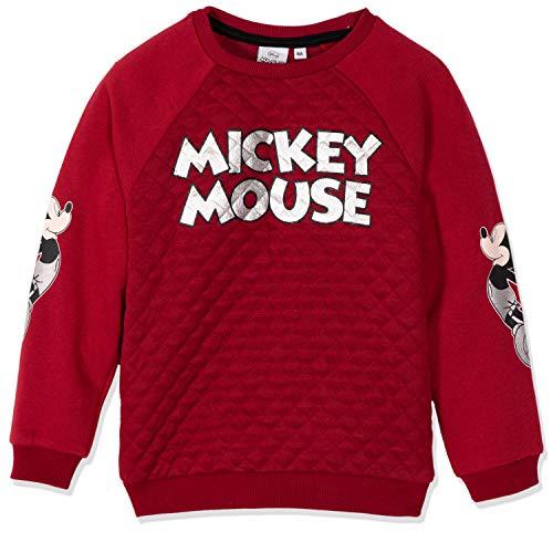 Disney - Sudadera oficial de Mickey Mouse para niños, color rojo o gris de 2 a 8 años
